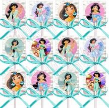 Princess Jasmine Lollipops Party Favors Supplies w/ Turquoise Ribbon Bow... - $14.80