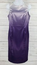 Venus Ombre Dress Sz 8 Purple Faded Shiny Sleeveless Formal Cocktail Party - $19.80