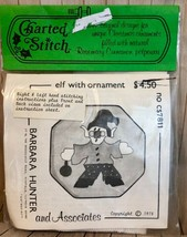 Barbara Hunter Vintage 1978 ELF WITH ORNAMENT Cross Stitch Kit Collectible - $18.70