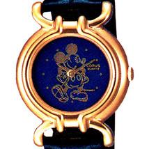 Mickey Seiko Lorus Gold Case Bright Blue Dial, New Never Worn, RPH828 Wa... - $137.46
