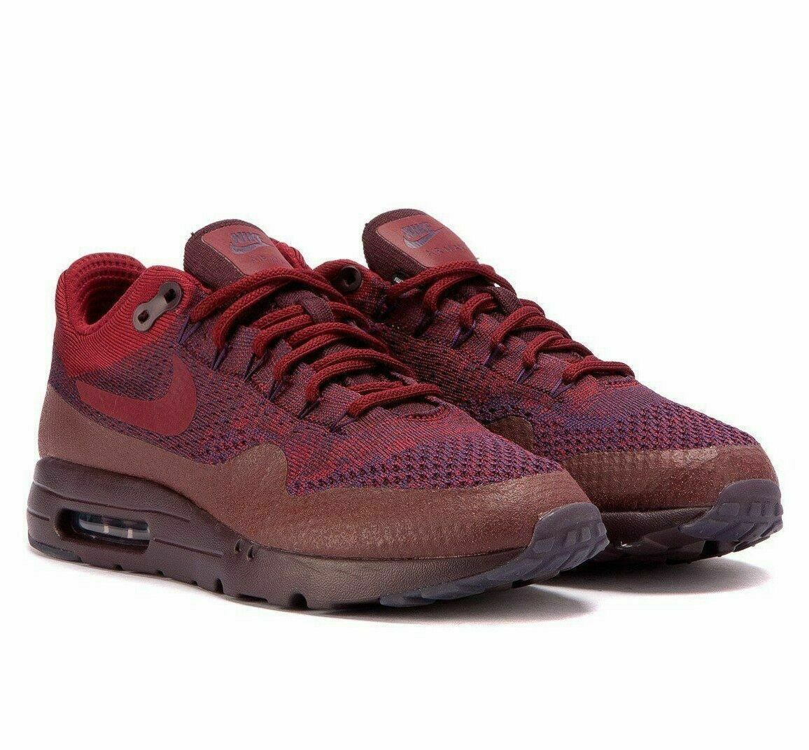 Nike Mens Air Max 1 Ultra Flyknit Shoes 856958 566 Grand Purple Size 14