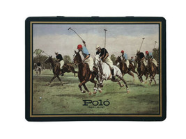 Vintage Polo Ralph Lauren Green Hinged Box Metal Tin Empty Box Made in E... - $39.55