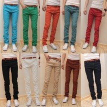 New 2018 Four New Metrosexual Pencil Pants Men's Casual Pants Long Slim Size Jea - $49.98