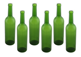 "Plastic Wine Bottles 12"" Tall Green Empty Display Pack Of 6 - $12.19"