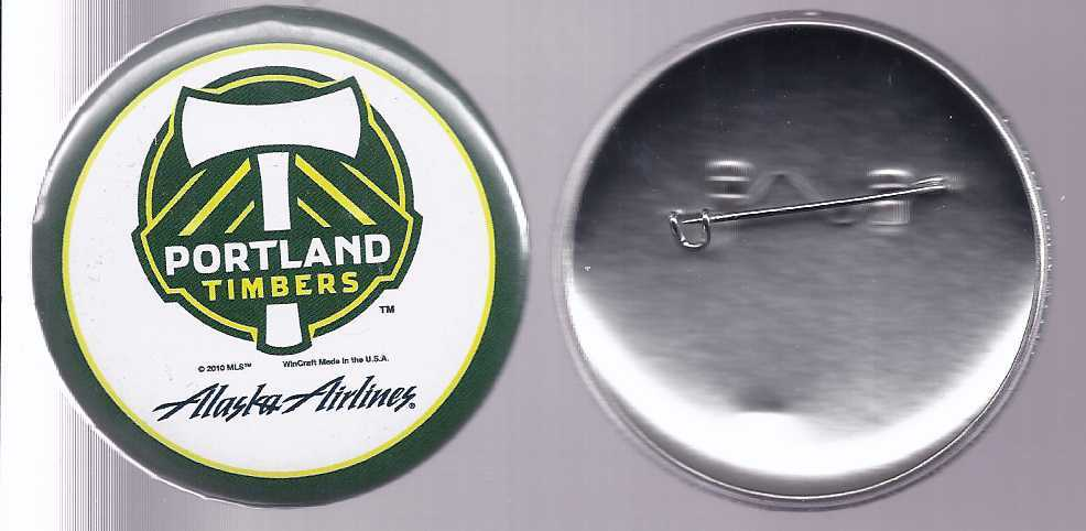 PORTLAND TIMBERS/ ALASKA AIRLINES Logo Pin, Brand New