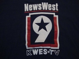 Vintage News West KWes TV TV News Navy Blue Cotton T Shirt Size XL - $17.81