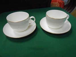 "American Fine China PFALTZGRAFF ""Royale"" 2 Luncheon-2 Dessert-2 Cups & Saucers - $19.12"