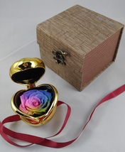 "Preserved Flower by ""Hey June Handmade"" - Rainbow Rose - Great Valentine's Gift! - $41.50"
