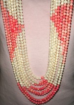 VTG ANGELSKIN CORAL PEARL 8 STRAND NECKLACE BUY IT NOW THIS IS THE LAST ... - $697.99