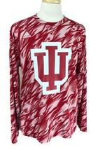 Adidas Men's Climalite IU Indiana University Hoosiers Long Sleeve Red T-... - $19.79