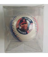 David Justice Cleveland Indians 1997 Stats MLB Fotoball Baseball Fan Sou... - $19.68
