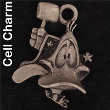CELL PHONE CHARM Daffy Duck WARNER BROS LOONEY TUNES Pewter WB STORE 4389 - $13.36