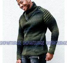Young republic new l/s zipper shawl collar cardigan knit jacket men - $91.93