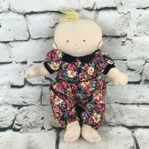 Baby Doll Plush Wearing Vintage Daisey Kingdom Floral Outfit Soft Stuffed Toy - $9.89