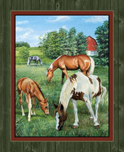 Wild Wings Valley Crest Horse Wallhanging Panel... - $7.63