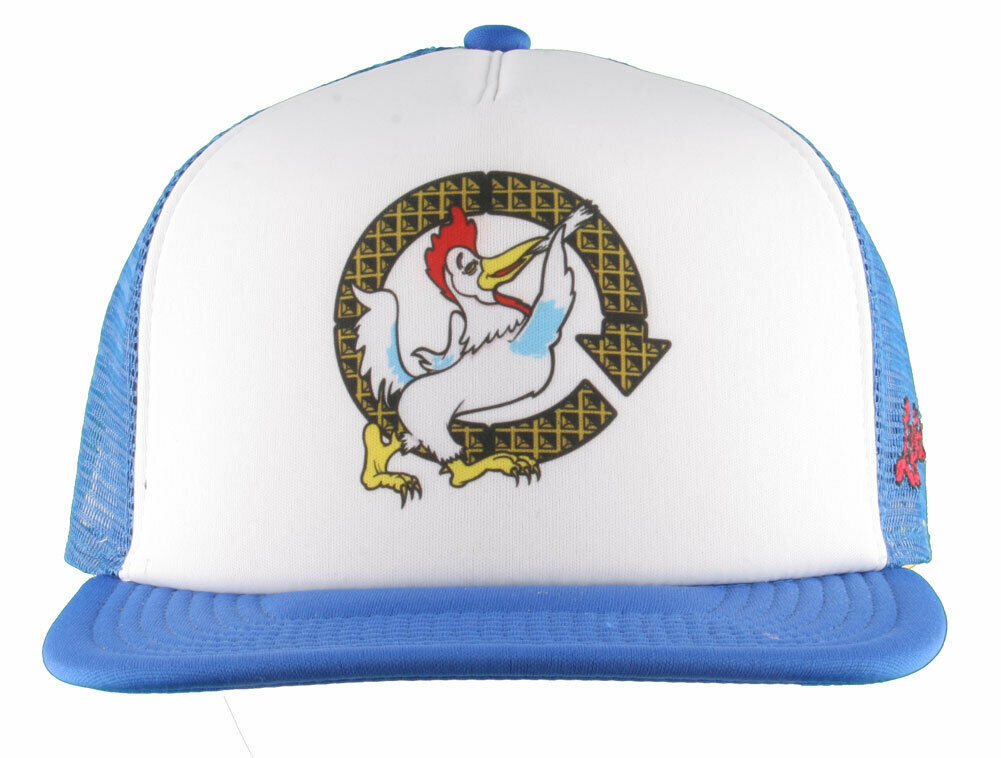 LRG Lifted House of Research Smoking Rooster Blue White Baseball Snapback Hat