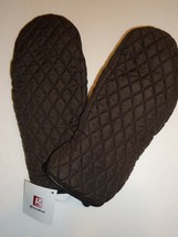 Grandoe Quilted Ski Mittens With Genuine Leather Grips,Brown - $26.79