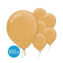 "Pearlized Gold Bulk Latex Balloons 12"" 100 Ct - $14.84"