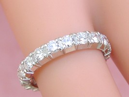 ESTATE 1.70ctw BRILLIANT DIAMOND WHITE 18K GOLD ETERNITY BAND RING size ... - $2,905.65