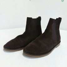Lands' End Girls Size 5.5 Brown Suede Slip On Boots Beatle Boots Kids Youth - $24.57