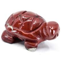 Rainbow Jasper Gemstone Tiny Miniature Turtle Figurine Hand Carved in China image 2