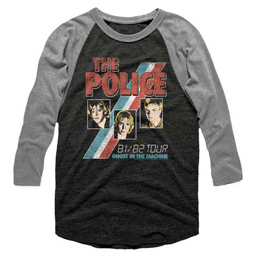 The Police-Ghost In The Machine-81/82 Tour-XL Raglan Baseball Jersey T-shirt