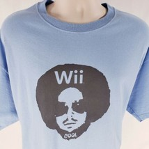 2007 Nintendo Wii T-Shirt XL E for All Expo Light Blue Cool Graphic Tee Cotton - $77.95