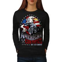America Customs Tee USA Country Women Long Sleeve T-shirt - $14.99