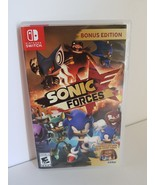 Sonic Forces Bonus Edition Nintendo Switch 2017 with Joy-Con decals case... - $37.99