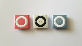 X3 iPod Shuffles, 4th Gen, A1373, Silver, Red, Light Blue, For Parts Not... - $40.93