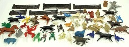 Cowboy and Indian Toy Lot, Vintage, Mixed Sets, 50 Pieces, Fencing, Horses - $19.99
