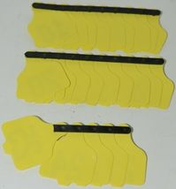 Destron Fearing DuFlex Visual ID Livestock Panel Tags Yellow 25 Sets 1 to 25 image 5
