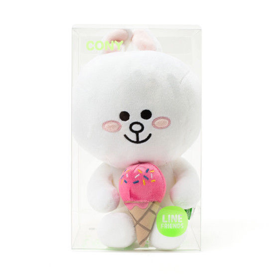 "LINE Friends Character Ice Cream CONY Sitting Doll 10""(25cm) Stuffed Plush Acc"