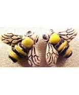 Bee 4 Pottery Beads - $2.95