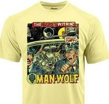 Man Wolf Dri Fit graphic Tshirt moisture wick SPF retro comic book sport tee image 1