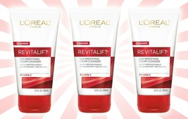 3 L'Oreal Paris Revitalift Skin Smoothing Cream Cleanser w/ Vitamin C 5 OZ - $20.68