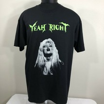 VTG 90s Yeah Right T Shirt Metal Tour Concert Band Single Stitch 50/50 U... - $50.00