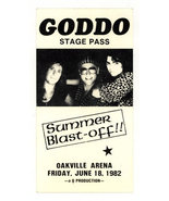 Canada hard rock GODDO 1982 Summer Blast Off STAGE PASS - $11.99