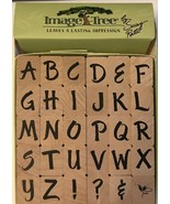 Image Tree Leaves A Lasting Impression Wooden Rubber Stamps - $14.03