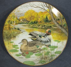 Green Winged Teal Collector Plate Living With Nature Jerner's Ducks 1987 - $21.95