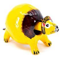 Handmade Alebrijes Oaxacan Wood Carved Folk Art Mini Lion Bobble Head Figurine image 5