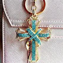 Cross Keychain Keyring Crystal Rhinestones Car Bag Purse Charm Pendant (... - $19.21