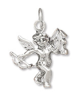 Sterling Silver Cupid Charm - $17.98