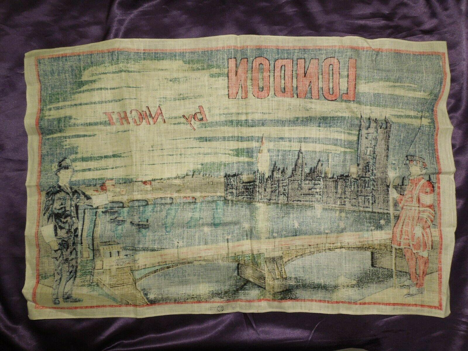 Vintage London by Night by Blackstaff Pure Irish Linen Towel Art image 11