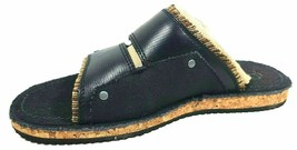 Timberland Mens Sandals JRDMS Slide 86520 M/M Leather / Cork Black/Nr SZ 8 - $49.99