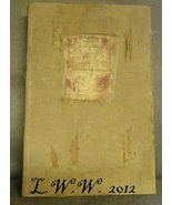Large Faux Book Poemes Poems Distressed Antiqued Hollow Book Box  - $16.99