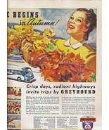 Greyhound  Bus1939 Life Mag Ad Lucky Strikes Ad Rvs - $11.50
