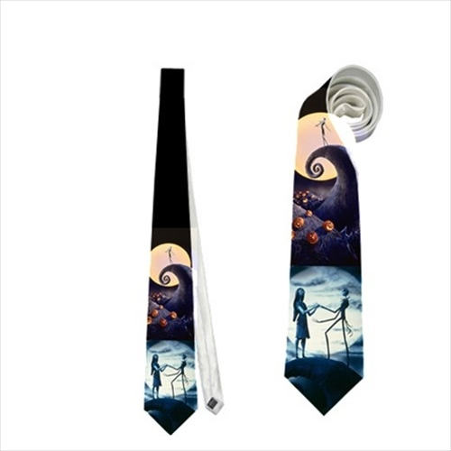 Necktie jack skellington a nightmare before christmass wedding prom  tie