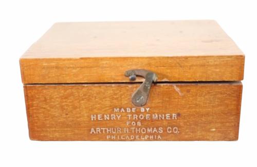 Vtg Henry Troemner Arthur H. Thomas Set Brass Balance Scale Weight Calibration
