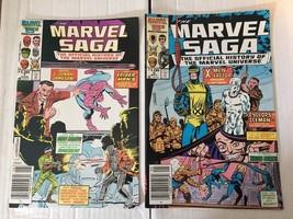 MARVEL SAGA #6 & 7 1988 VF+ 8.5 Marvel Comic Book Lot X-Men X-Factor Spi... - $3.59